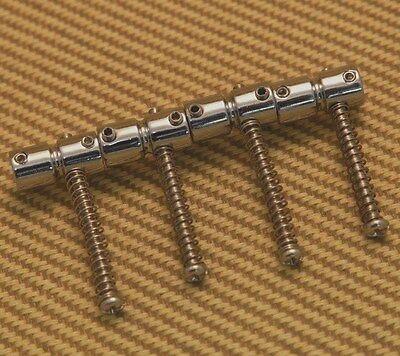 (4) Chrome Bridge Saddles For Fender® & Squier Precision & Jazz Bass 0025