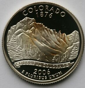 """A 2006 S North Dakota 90/% SILVER Deep Cameo /""""PROOF/"""" State Quarter US Mint Coin"""