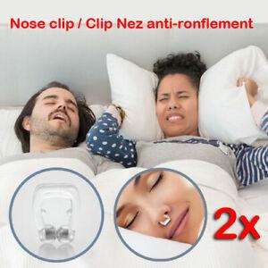 2x-Clip-Nez-Clip-Nez-anti-ronflement-et-apnee-du-sommeil-Dilatateur-nasal