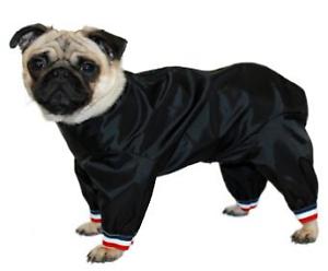 Combinaison pantalon de chien en nylon imperméable noir