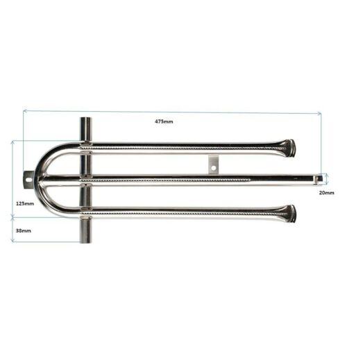 Brennerset für 6-flammige Gas-Grill//-Bräter BRS6-XCR Edelstahl Brennerrohr-Set