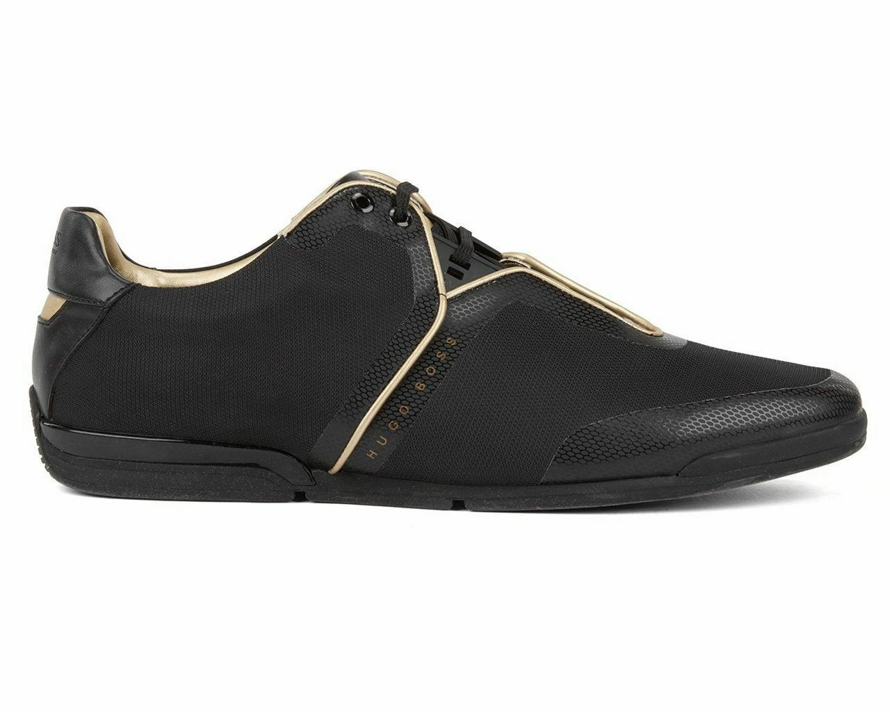 Homme Hugo Boss Saturn Low Tech 2 50397650 002 Baskets chaussures noires