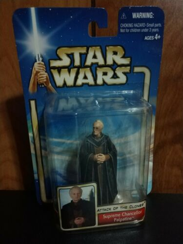 2002 STAR WARS AOTC COLLECTION 2 SUPREME CHANCELLOR PALPATINE #39 FACTORY SEALED