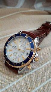 Pryngeps-Milano-NOS-chrono-watch-quartz-vintage-steel-39mm-croco-band-100mt-WR