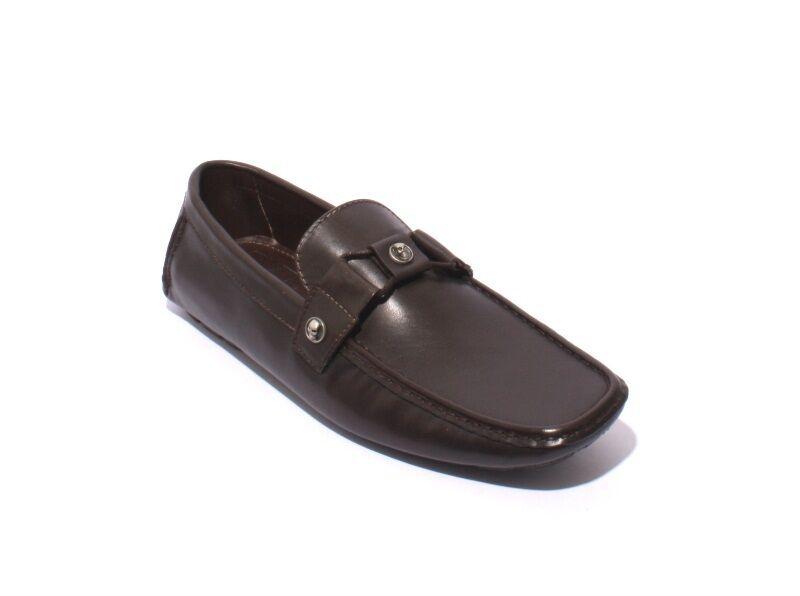 Scarpe casual da uomo  ROBERTO SERPENTINI 1002a Brown Leather Driver Moccasins Loafers 42 / US 9
