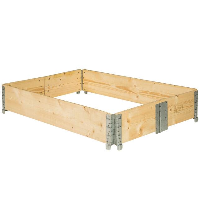 Hochbeet-Rahmen faltbar 120x80x19cm Gartenbeet Holzrahmen Pflanzbeet Frühbeet