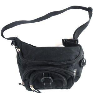 Eastsport-Black-Nylon-Fanny-Pack-Multiple-Pockets-Holder-Buckle-Adjustable-Waist