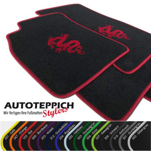 Fußmatten mit Drache versch Farben für Audi A6 S6 C7 4G inkl Avant ab Bj 2011