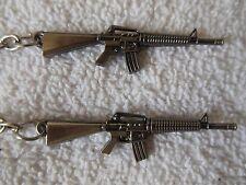 M-16 -Assault Rifle**Keychain****Lot-of-2**Free  Shipping**