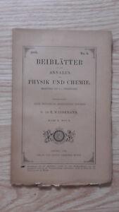 E. Wiedemann - Beiblatter Zu Den Annalen Der Physik Und Chemie - 1886 - Nº5