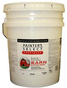 Barn & Fence Paint, Latex, Flat, Black, 5-Gals ...