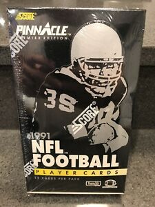 1991-Score-Pinnacle-NFL-Football-Premier-Edition-Factory-Sealed-Box-36-Packs