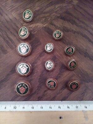 Lot 10  BOUTONS  GRIS NEUFS button sewing grey mercerie 12 mm 2 trous