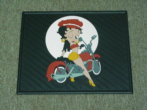 Betty Boop ~1 Pair REAR CAR MATS BIKER~