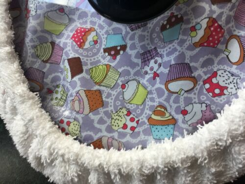 Slow cooker 2.5// 3L Lilac cupcake pattern /& towelling cover lid 10 x 8 inch