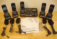 Panasonic KX-TG9381 2 Line Digital Cordless Phone/Answering System w/5 Handsets