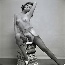 NU NUDE PHOTO FOTO 20X20CM REPRINT FROM 1960 ORIGINAL NEG #4 louise