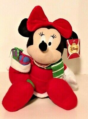Christmas Minnie Mouse Plush.Disney Christmas Minnie Mouse Plush Stuffed Animal Holiday Home Decor Large 16 47475006335 Ebay
