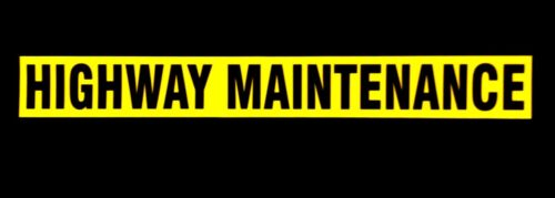 Budget Highway Maintenance Magnetic Non Reflective Sign small