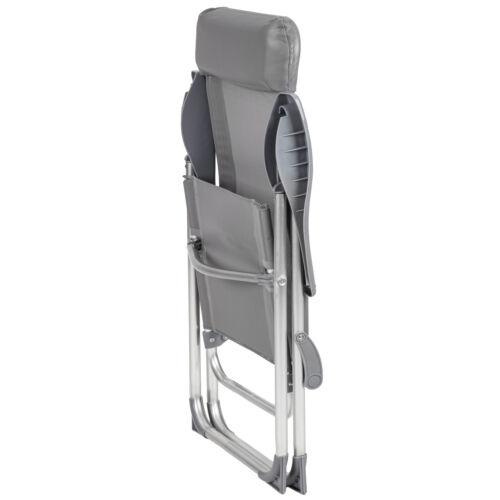 Conjunto de 4 de aluminio plegable sillas de jardín Nuevo plata de muebles para patio de acampar al aire libre