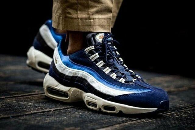 reputable site f4800 11b04 Nike Air Max 95 Premium (Men's Size 10 - 11.5) Blue Varsity Pack 538416-404