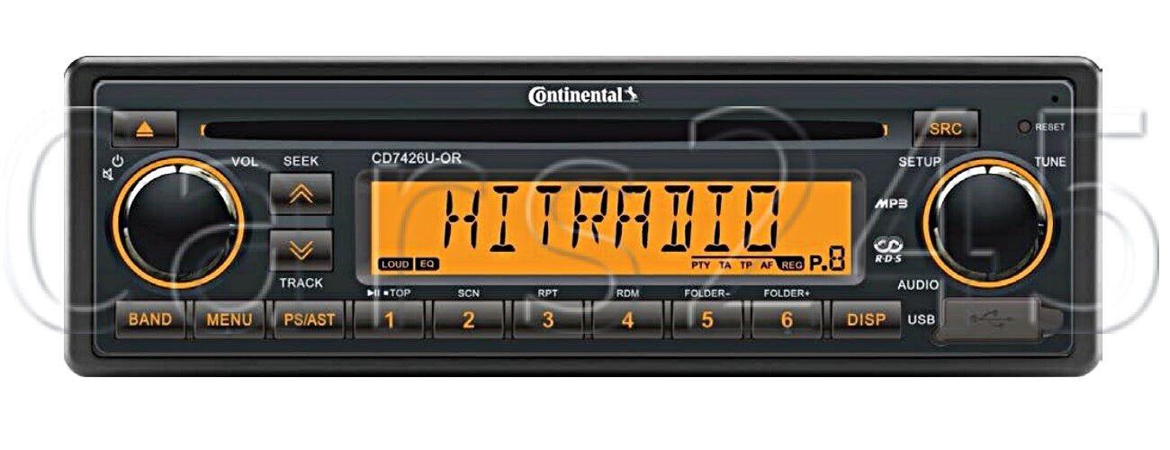 Continental CD RADIO USB MP3 WMA 24V Stiefel CD7426U-OR