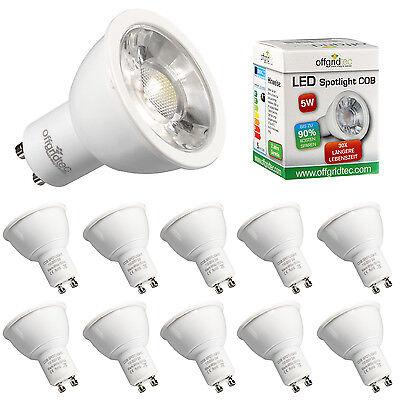 10x Offgridtec® GU10 5W COB LED Spot Eco-Line Warmweiß 3200K Strahler Leuchte