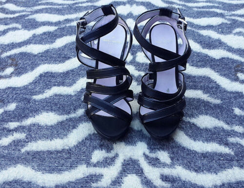 Platform taille Uk4 sandales Paris 37 Strappy Black Chaussures Daniel Hechter qx0EwSPgU