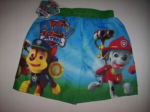 Paw-Patrol-Swimsuit-Swimwear-Trunks-Boy-2Toddler-Nickelodeon-Asst-Characters-NWT