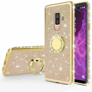 For Samsung Galaxy S7 8 9 Bling Luxury Glitter Diamond Stand Phone Case Cover Ebay