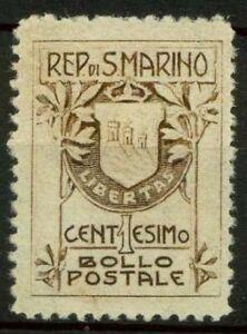 San-Marino-1907-Sass-47-Nuovo-100