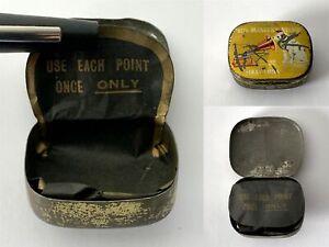 Empty Antique HIS MASTERS VOICE Half Tone Gramophone Needles Tin