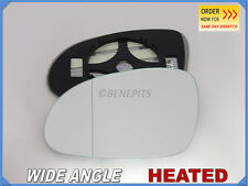 Wing Mirror Glass For VW PASSAT CC/JETTA 2005-2010 Wide Angle HEATED Left Side
