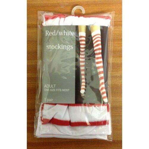 RED AND WHITE STRIPED STOCKINGS BOOK WEEK WALLY FANCY DRESS UP