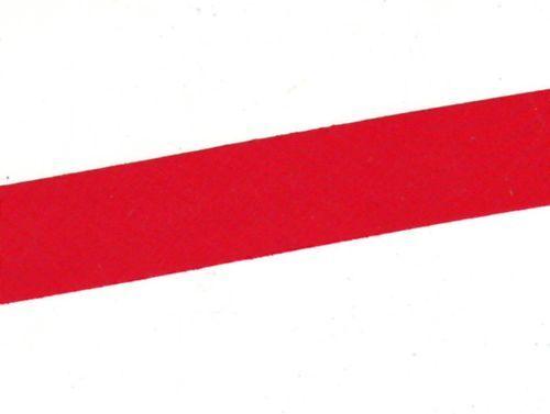 5mm posé Rouge * 3 m biais plat synthétique 23 mm