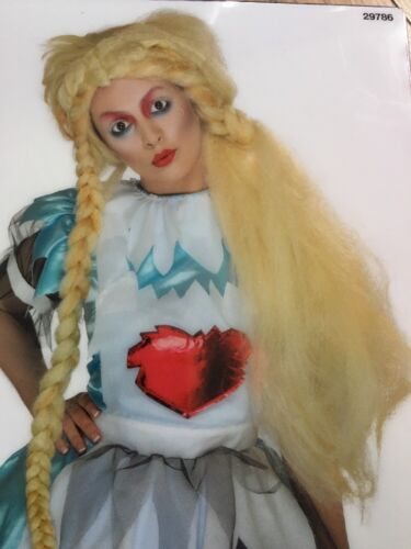 Alice in Wonderland Wig Zombie Doll Girl  Halloween Blonde Emo Punk Dreads Goth