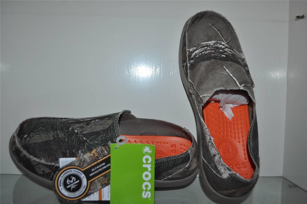 Crocs Para Hombre Santa Cruz Realtree Xtra camuflaje Mocasines Ver Tamaños Nuevo Con Etiquetas