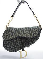 Christian Dior Saddle Bag Shoulder Schultertasche Tasche Zeitlos NAVY Blau Blue