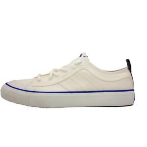 DIESEL-S-Astico-LC-Logo-Mens-Whisper-White-Fashion-Sneaker-Size-10