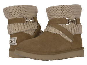 Women-UGG-Purl-Strap-Boot-1098080-Chestnut-Twinface-100-Authentic-Brand-New
