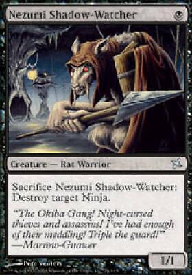 Betrayers of Kamigawa 4 Nezumi Shadow-Watcher LP mtg 4x x4