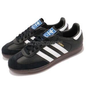 e57beb61e6 adidas Originals Samba OG Classic Black White Gum Men Casual Shoe ...