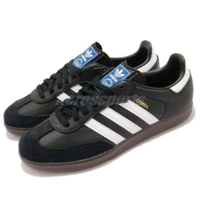 timeless design f2ec3 1ff7b adidas Originals Samba OG Classic Black White Gum Men Casual Shoe Sneaker  BZ0058