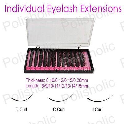 8-13mm 0.1/0.12/0.15/0.2mm C/D/J Curve Individual False Eyelash Extension Curl