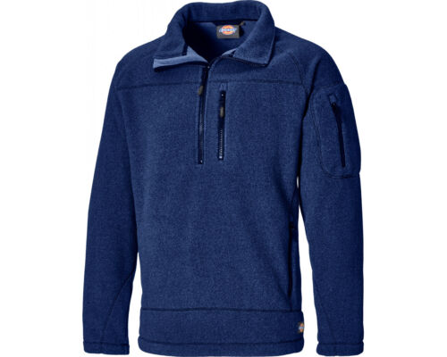 Dickies Brookton Fleece Mens Half Zip Work Sweater Jumper JW7012