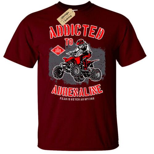 Addicted to Adrenaline T-Shirt Mens quad bike racing gift
