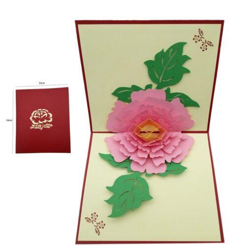 3D Pop Up Greeting Cards Birthday Valentine Easter Anniversary Wedding Card USA