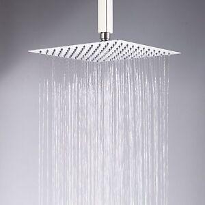 Image Is Loading Chrome 8 034 Square Rain Shower Head Ceiling