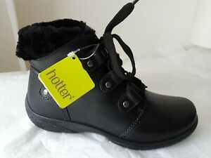 Black 3 New Ankle Hotter Size Ruby Fitting Leather Std Uk Boots UwnAZf1xq