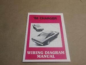 1968 Dodge Charger Wiring Diagram Manuel New Ebay